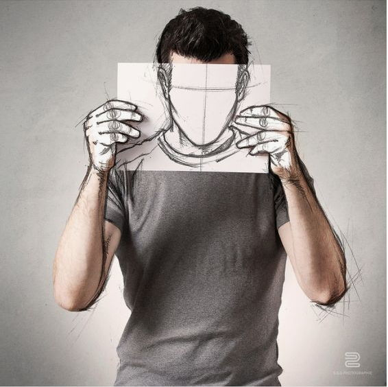 【自画像教学】-如何拥有自己创意自画像素描作品
