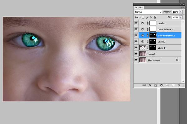 眼睛銳化的Photoshop教程
