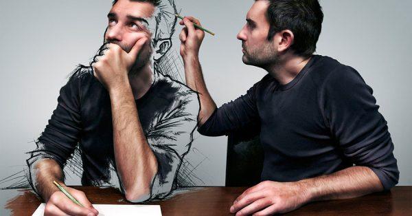 【自畫像教學】-如何擁有自己創意自畫像素描作品