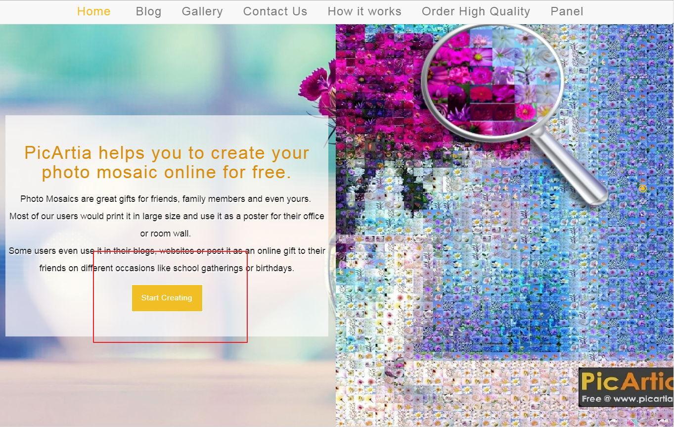 【马赛克拼图】Picartia 线上马赛克拼图照片制作