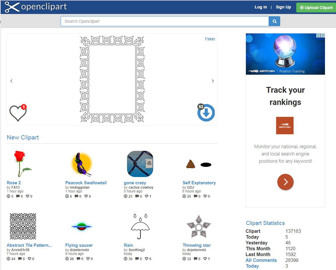 【素材网站】专业级Openclipart 免费素材网站下载