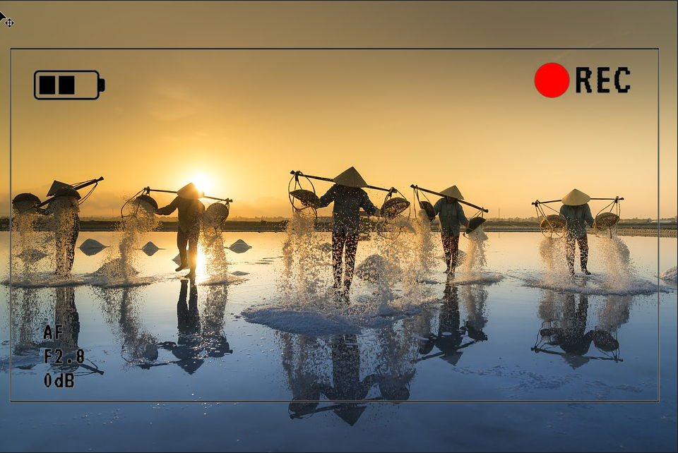 【摄影框】6种摄影机内萤幕特效录影框下载
