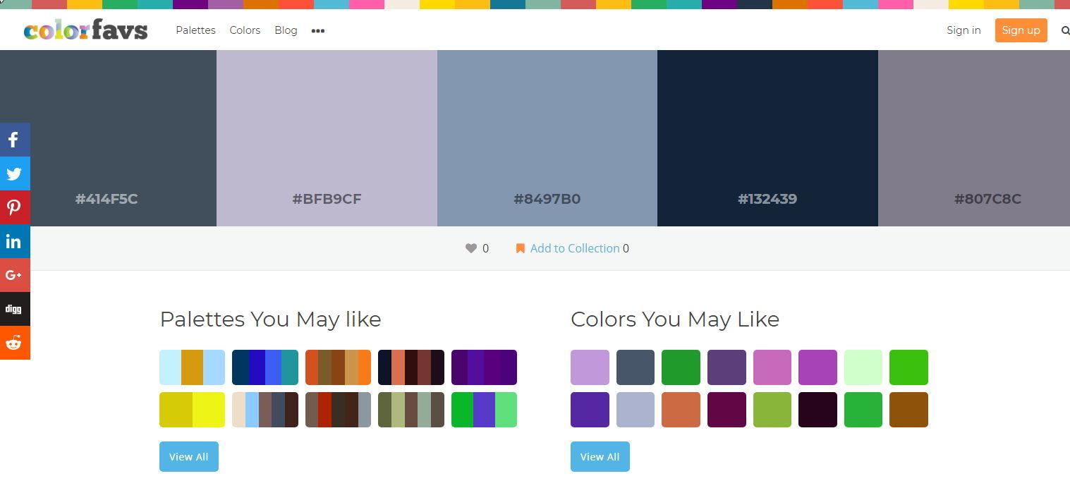 【颜色搭配表】ColorFavs 线上颜色搭配表制作工具