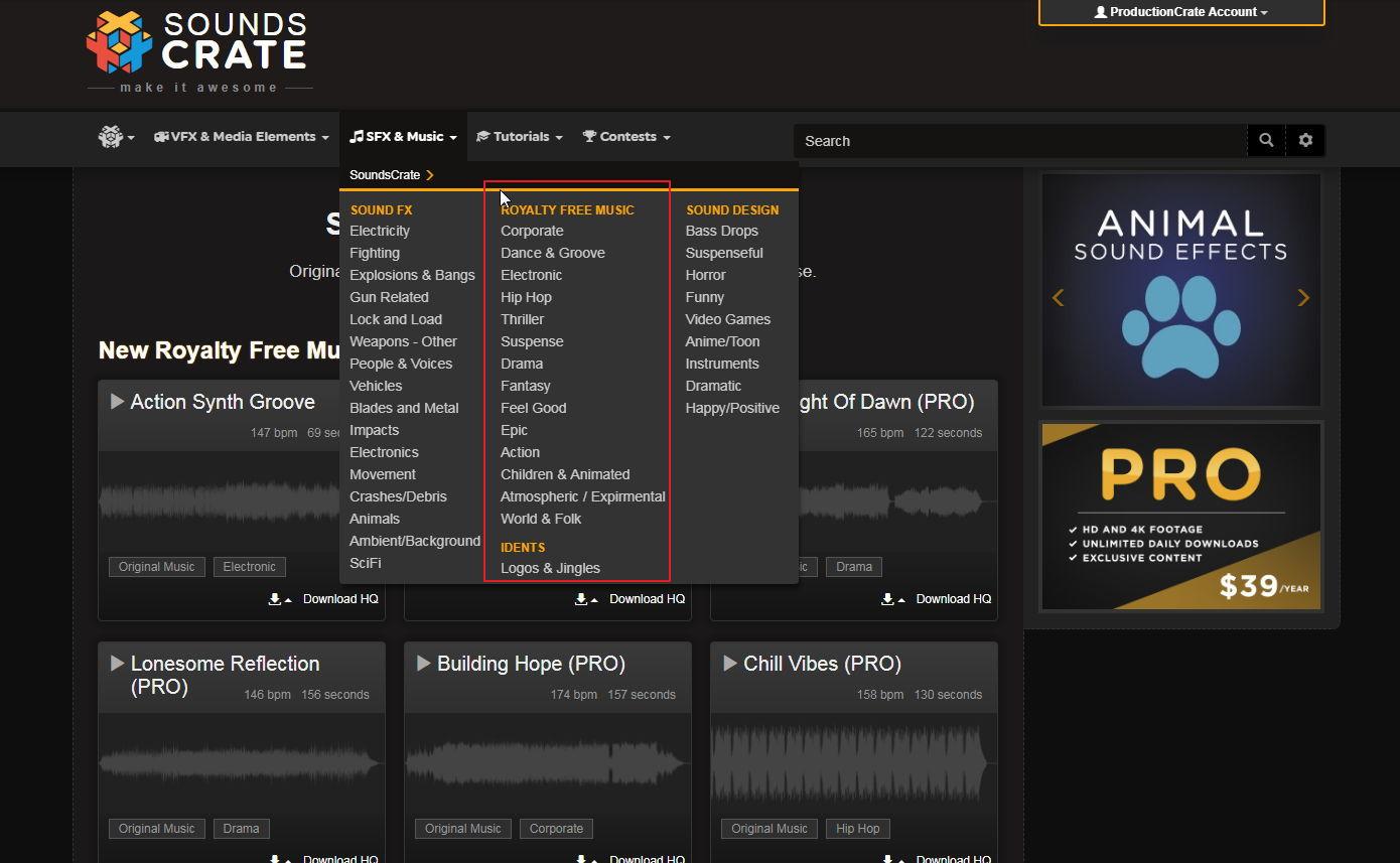 【特殊音效下载】专业级Soundscrate FX电影无版权音效下载
