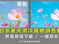 【LR風格檔】LIGHTROOM日系風格照片調色教學,日系修圖首選