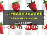 [ 水果素材 ] 1270套水果圖片下載,水果圖案都已經去背好了。