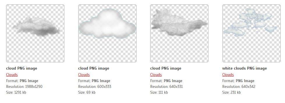 【天空素材】33套天空素材下载,PS去背云朵素材