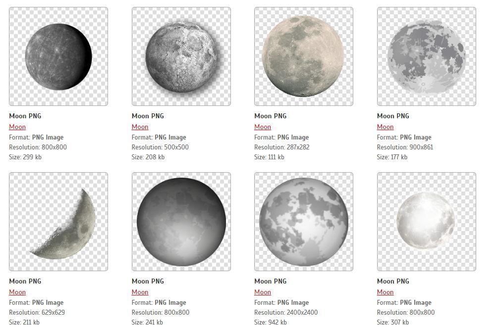 【月亮图库】52套高画质月亮素材下载,各种地球星球图案