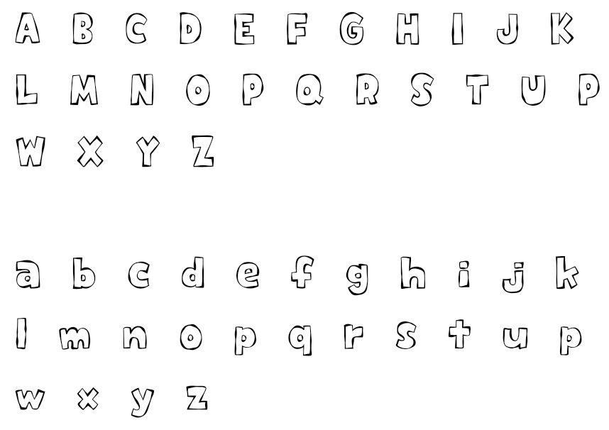 【美工字体】专业级英文美工字体下载,美工字型范例