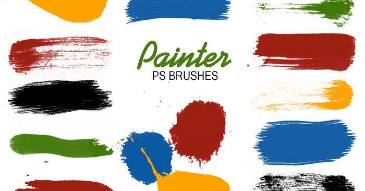 【水墨筆刷】5種專業級PS水墨筆刷下載,墨水筆刷專用款