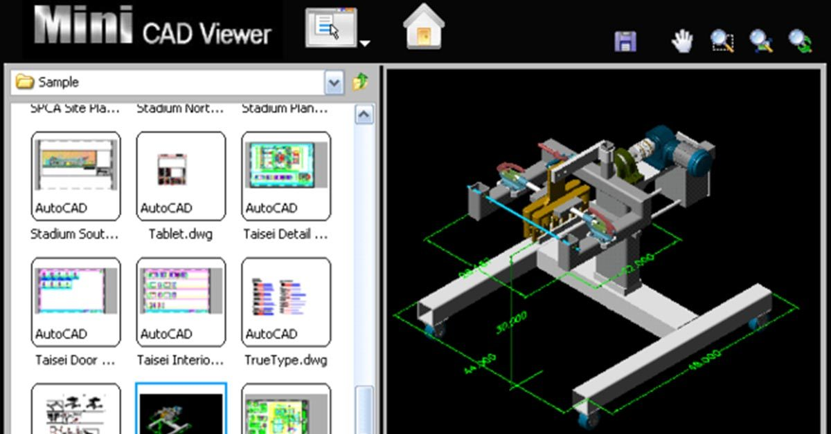 【DWG查看】Mini CAD Viewer  DWG檔開啟軟體,AUTOCAD看圖專用