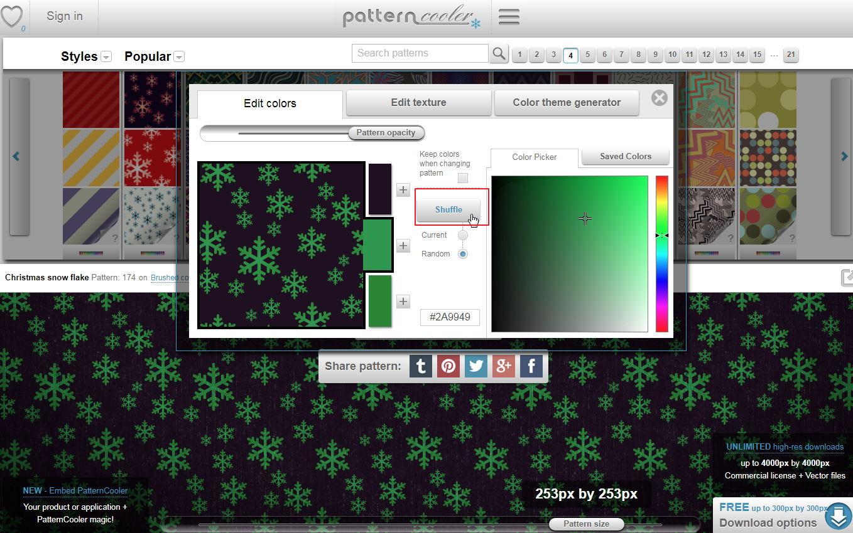 【制作背景】Pattern Cooler 线上背景图制作工具,做出专属的自制背景