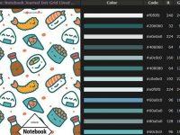 [ 雜誌配色 ] Colorchart 日系線上雜誌配色 / 雜誌色調 / WORD封面設計