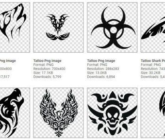 【刺青圖案】112種刺青圖案設計,簡單的刺青線條設計圖片