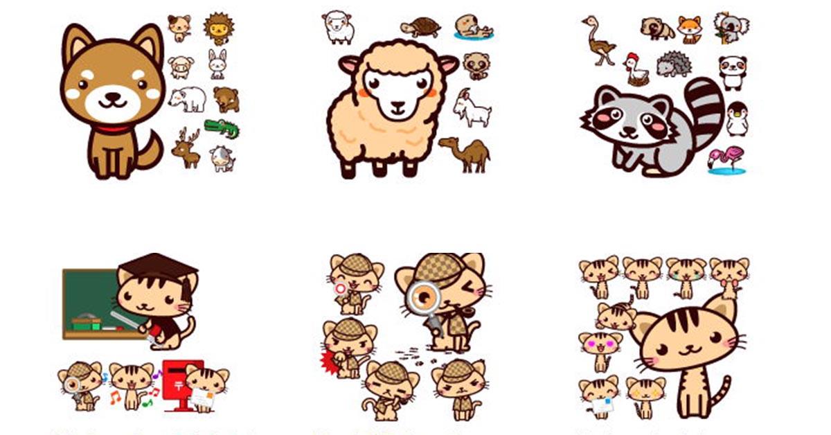 【Q版圖案】Putiya 日本Q版卡通圖案免費下載