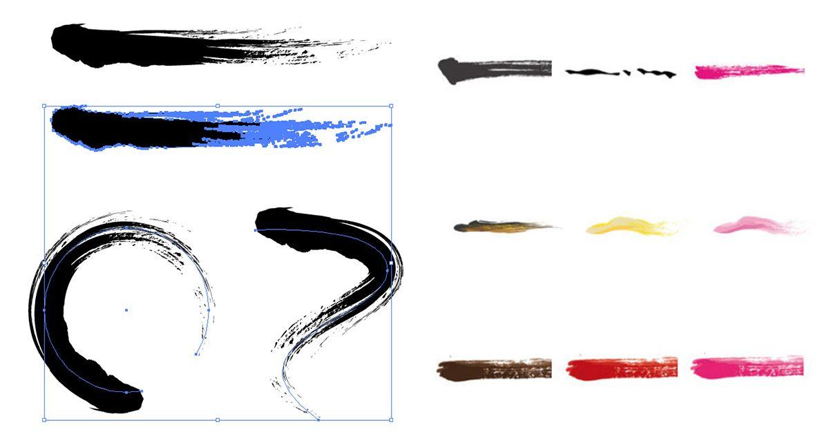 [ AI素材 ]  Illustrator-Brush Ai筆刷下載 / 可商業用途 / 附安裝教學