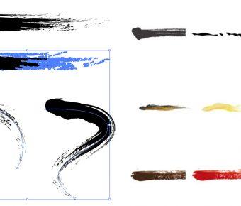 【AI 筆刷下載】Illustrator-Brush Ai筆刷下載,筆刷素材首選