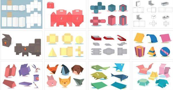 【紙袋展開圖】 52套Illustrator 紙盒展開圖下載 ,紙箱版型推薦