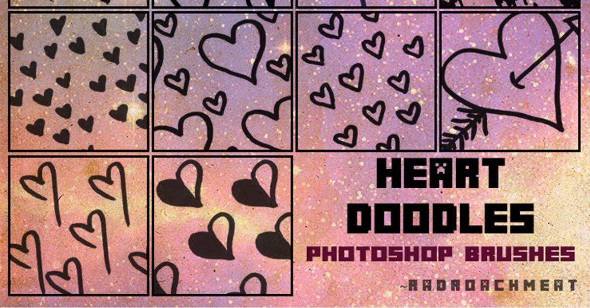 [ PS筆刷 ] 14種PHOTOSHOP 愛心筆刷 / 手繪愛心符號 / 愛心圖案