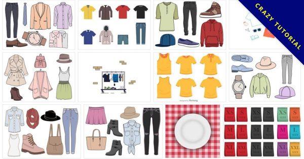 【服裝版型】107套Illustrator 服裝設計版型下載