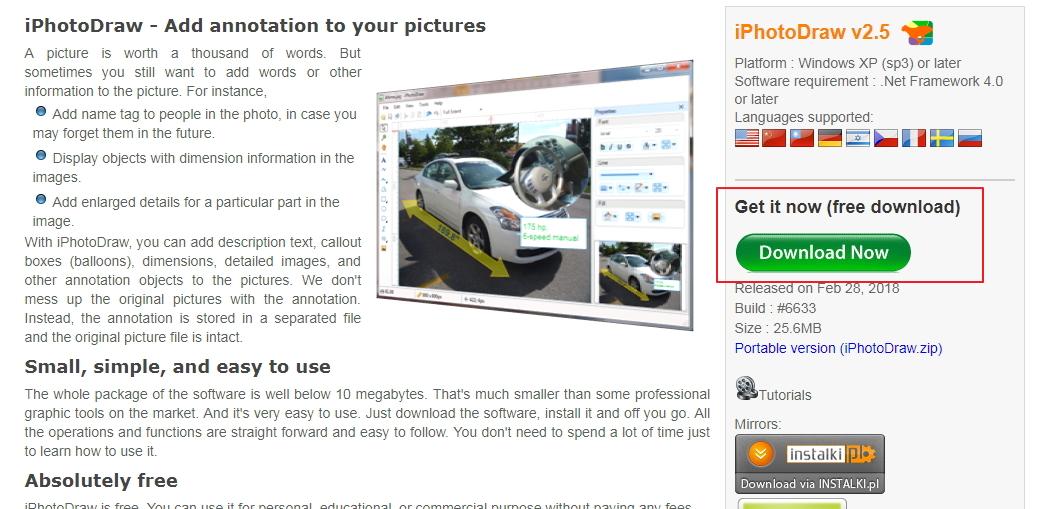 【照片加字】专业版 iPhotoDraw 照片加文字软体,快速增加注解照片