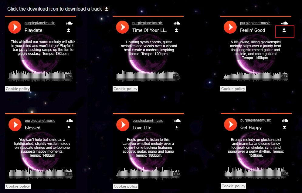 【免费配乐】Purple-planet 免费配乐下载,背景配乐推荐