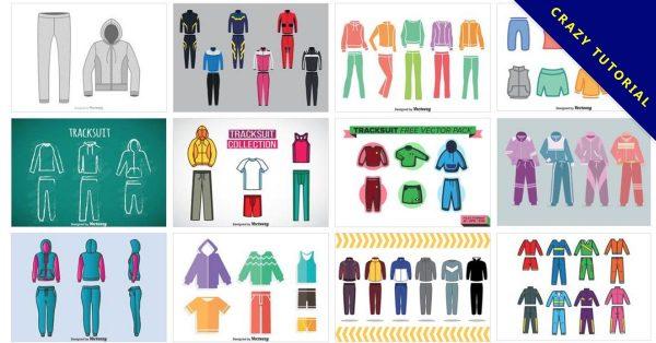 【運動服版型】 44套Illustrator 運動服版型下載,運動服圖案設計