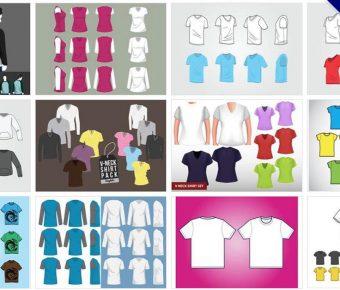 [ 衣服範本 ]  45套Illustrator 衣服版型下載 / 衣服模板AI