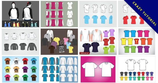 【衣服模板】 45套Illustrator 衣服版型下載,衣服模板AI免費下載