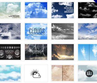 【雲霧素材】45套專業版Photoshop 天空雲霧筆刷下載
