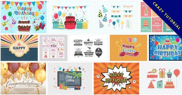 【卡片圖案】90套可愛Illustration 生日卡片圖案下載