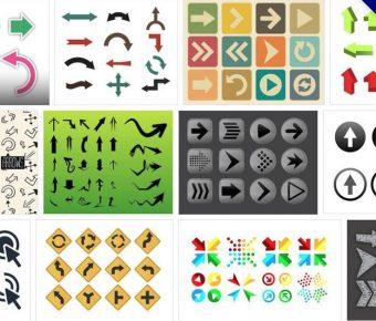【箭頭圖案】120套 Illustrato 可愛AI箭頭圖案素材下載