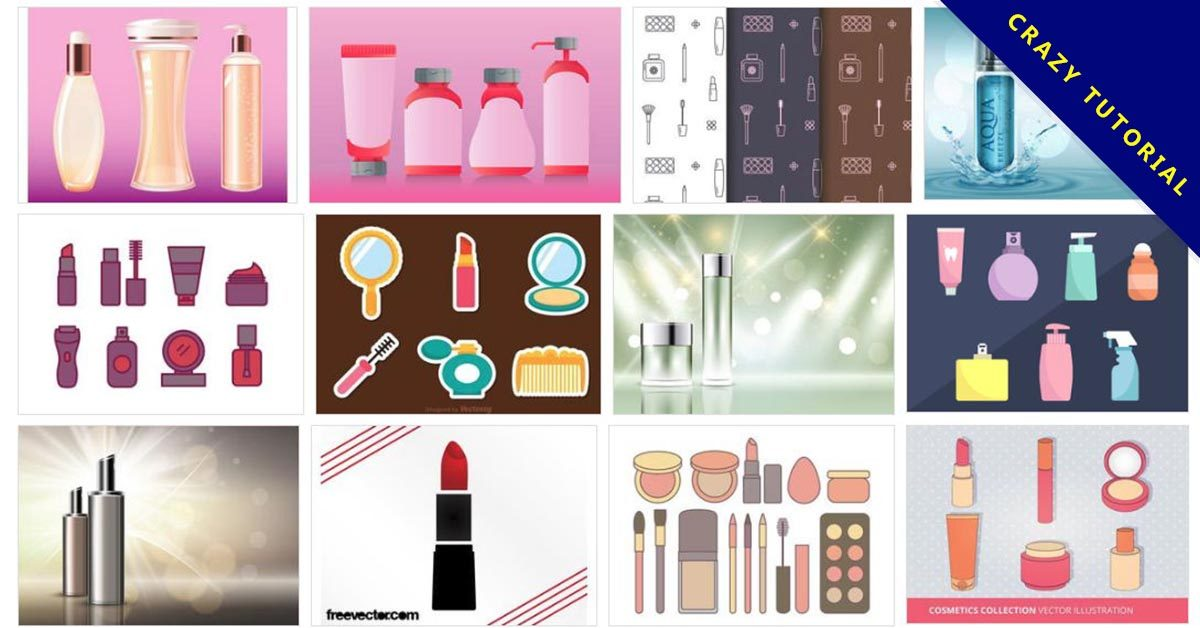 [ 化妝品範本 ]  70套Illustrator 化妝品模板下載 / 化妝品瓶罐模板
