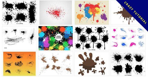 【噴濺素材】82套 Illustrator 噴墨素材下載,噴漆素材首選