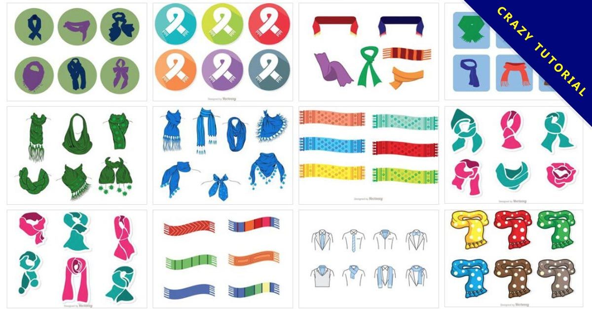 【圍巾圖案】20套Illustrator 圍巾圖案下載