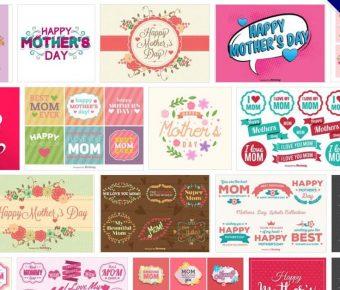 [ 母親節卡片 ]  135套 Illustrator 母親節卡片設計 / 母親節卡片模板 / 海報製作