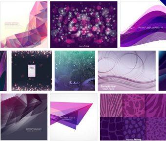 【紫色素材】 101套Illustrator 紫色背景圖素材下載