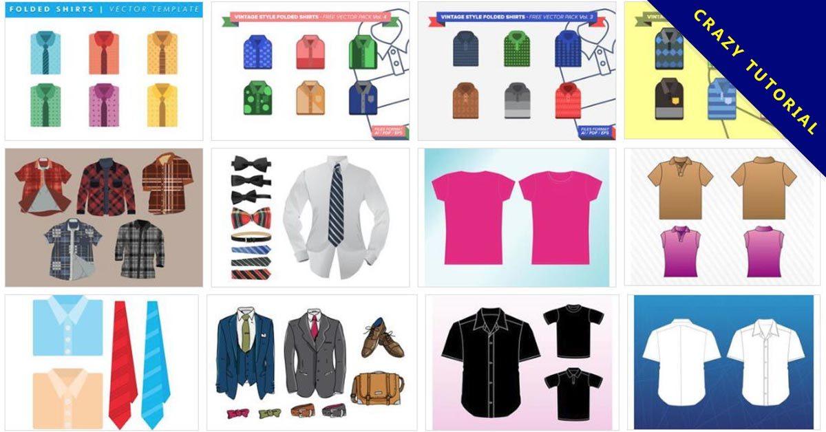 [ 襯衫範本 ]  32套Illustrator 襯衫版型下載 / 襯衫樣板設計