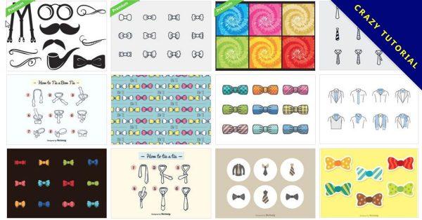 【領帶版型AI】35套Illustrator 領帶圖案版型下載