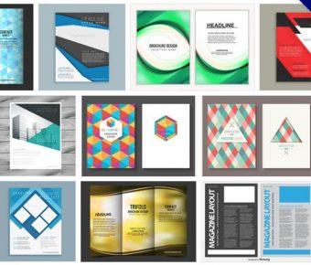 【DM設計範本】135套 Illustrator DM設計範本AI檔下載,海報設計範本首選