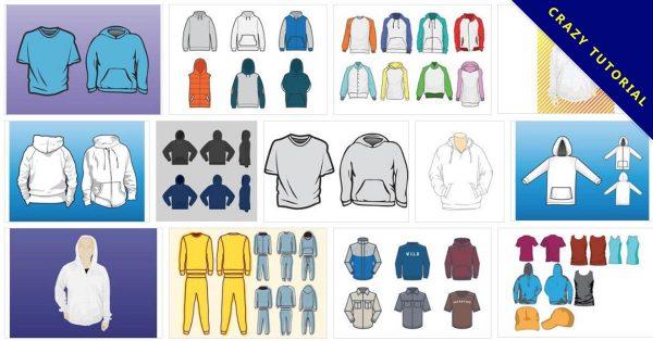 【帽T版型】 16套Illustrator 帽T版型AI下載, 帽T打版推薦款