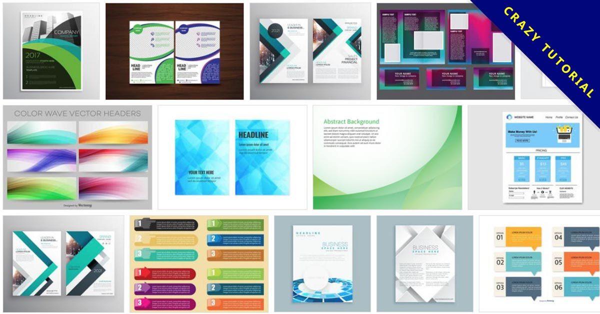 [ 設計模板 ] 92套Illustrator 平面設計範例模板 / 封面設計套版下載