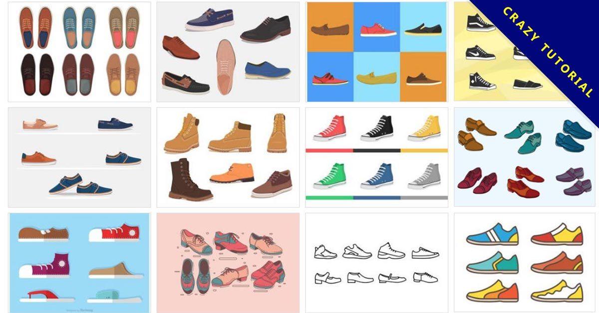 【鞋子圖案】37套Illustrator 鞋子圖案素材下載,鞋子圖片推薦款