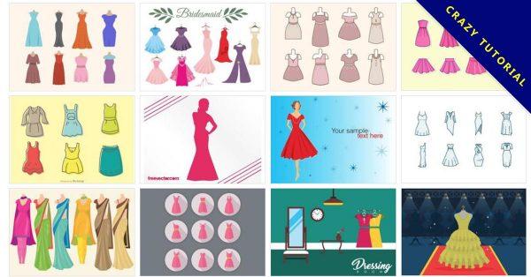 【Q版禮服】70套Illustrator 卡通Q版禮服圖案下載