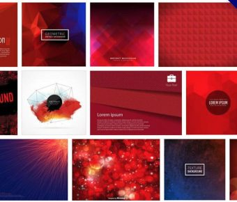 【紅色桌布】105套Illustrator 紅色背景圖素材下載