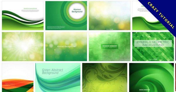 【綠色桌布】100多套Illustrator 綠色背景底圖下載,綠色素材首選