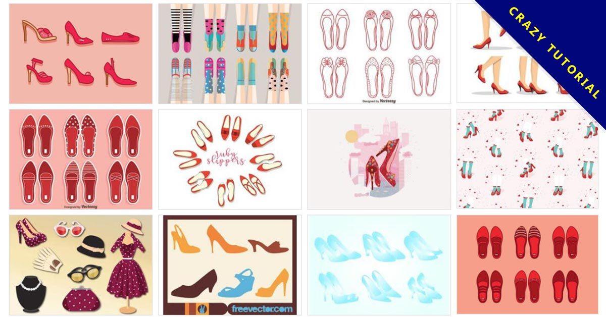 [ 高跟鞋範本 ]  77套Illustrator 高跟鞋設計版型 / 高跟鞋圖案設計