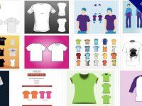 【T shirt AI檔】73套 Illustrator T-shirt版型AI檔下載,T恤模板推薦