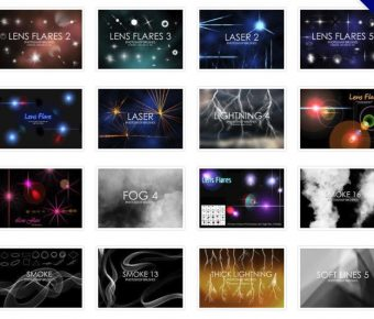 [ PS光線 ] 40套PHOTOSHOP光線筆刷 / 光效筆刷 / 光點筆刷
