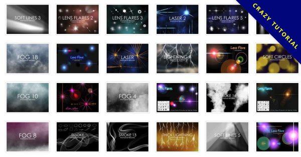 【光線筆刷】40套專業版PHOTOSHOP光線筆刷,PS光線推薦款